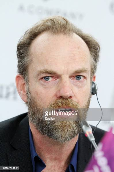 Hugo Weaving attends the press conference of the 'Cloud Atlas' Moscow premier in Ukraina hotel on November 2 2012 in Moscow Russia