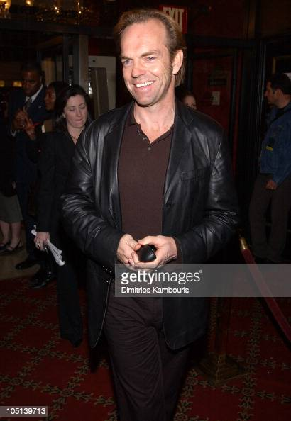 Hugo Weaving during 'Matrix Reloaded' New York Premiere Inside Arrivals at Ziegfeld Theater in New York City New York United States