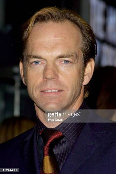 Hugo Weaving during 'The Matrix Reloaded' London Premiere at Odeon Leicester Square in London Great Britain