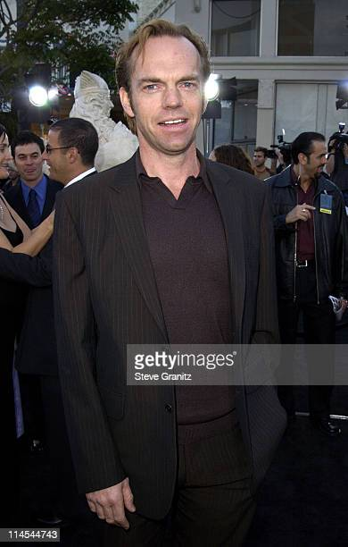 Hugo Weaving during 'The Matrix Reloaded' Premiere at Mann Village Theatre in Westwood California United States