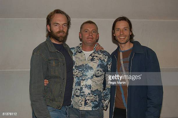 Hugo Weaving Stephen Elliot and Guy Pearce at the Melbourne Launch of the DVD of The Adventures Of Priscilla Queen Of The Desert at the Cinema Europa...