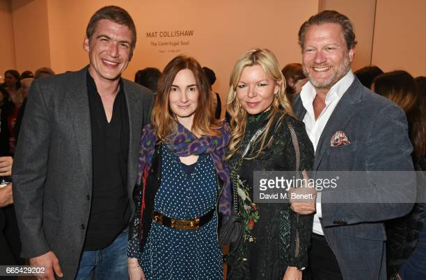 Hugo Wilson Maria Theresia of Thurn and Taxis Fru Tholstrup and Soren Tholstrup attend the Private View of 'Centrifugal Soul' by Mat Collishaw at...