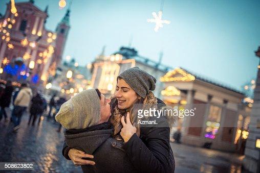 Hugs and kisses : Stock Photo