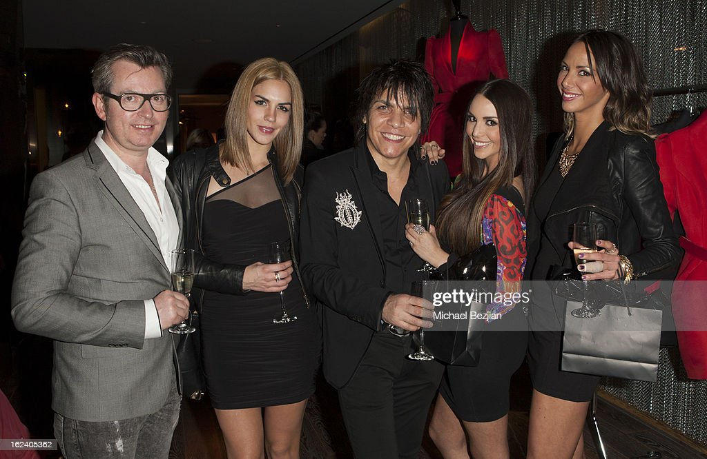Hugues Alard; Nabil Hayari and Actresses Katie Maloney, Sheena Marie and Katie Doute attend Le Lounge on February 22, 2013 in Los Angeles, California.