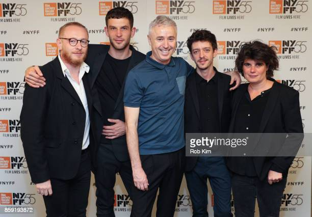 Hugues Charbonneau Arnaud Valois Robin Campillo Nahuel Perez Biscayart and MarieAnge Luciani attend the screening of 'BPM ' during the 55th New York...