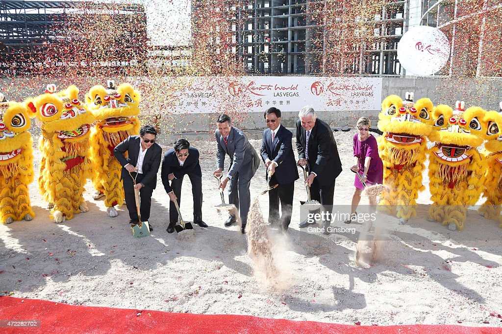 Ceremonial Groundbreaking For Resorts World Las Vegas On The Strip