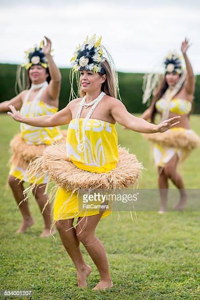 Hula Dancers from a Hawaiian Halau