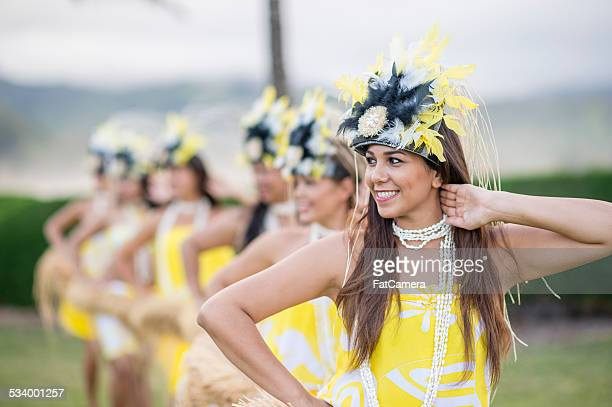 Hula Dancers from a Hawaiian Halau