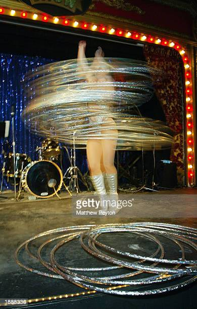 Hula hoop dancer performs at 'An Evening of Variety A benefit for the Art Party and Friends In Deed' at Show March 31 2003 in New York City