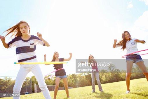 Hula hooping fun! : Stock Photo