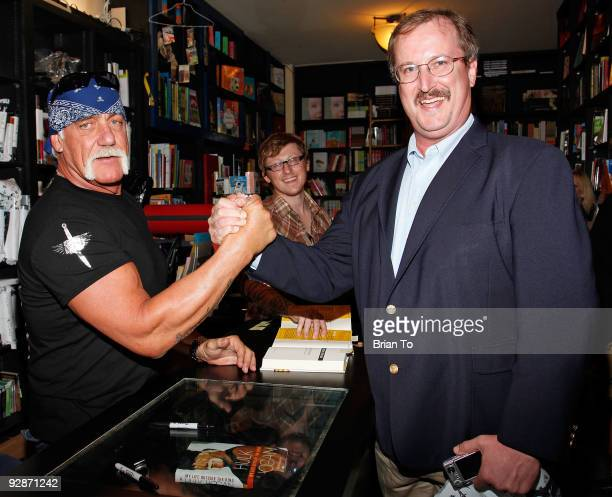 Hulk Hogan and fans attend Hulk Hogan Signs Copies Of 'My Life Outside The Ring' At Book Soup at Book Soup on November 6 2009 in West Hollywood...