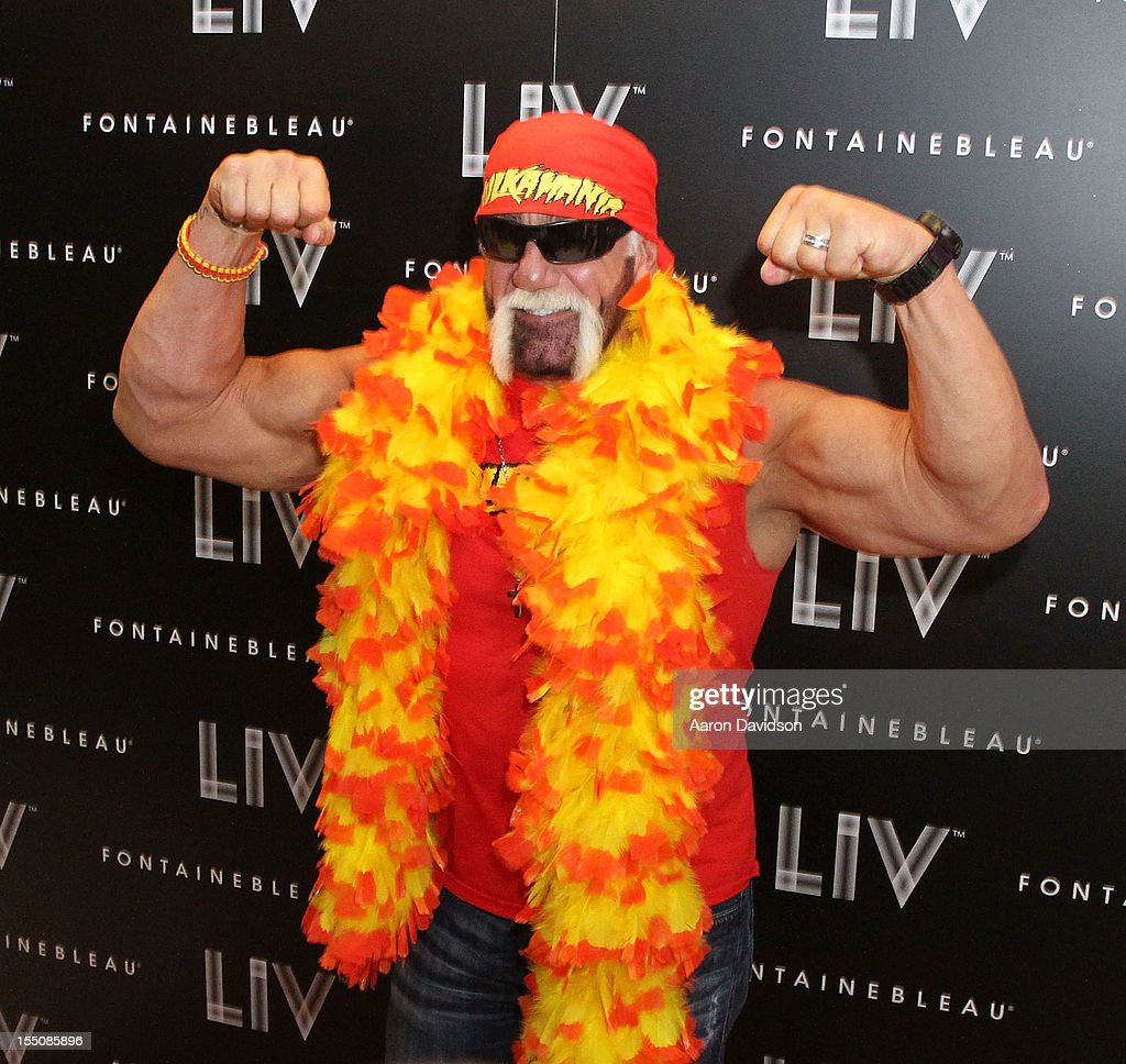 <a gi-track='captionPersonalityLinkClicked' href=/galleries/search?phrase=Hulk+Hogan&family=editorial&specificpeople=209432 ng-click='$event.stopPropagation()'>Hulk Hogan</a> arrives at Kim Kardashian's Halloween party at LIV nightclub at Fontainebleau Miami on October 31, 2012 in Miami Beach, Florida.