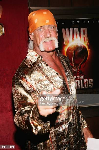 Hulk Hogan attends the premiere of 'War Of The Worlds' at the Ziegfeld Theatre on June 23 2005 in New York City