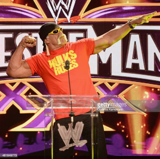 Hulk Hogan attends the WrestleMania 30 press conference at the Hard Rock Cafe New York on April 1 2014 in New York City
