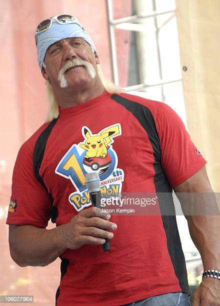 Hulk Hogan during Pokemon 10th Anniversary Celebration with Hulk Hogan August 8 2006 at Bryant Park in New York City New York United States