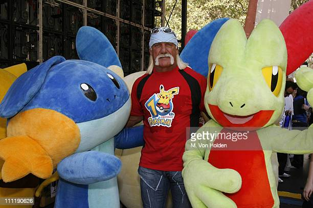 Hulk Hogan during Pokemon Celebrates 10th Anniversary at Bryant Park in New York NY United States
