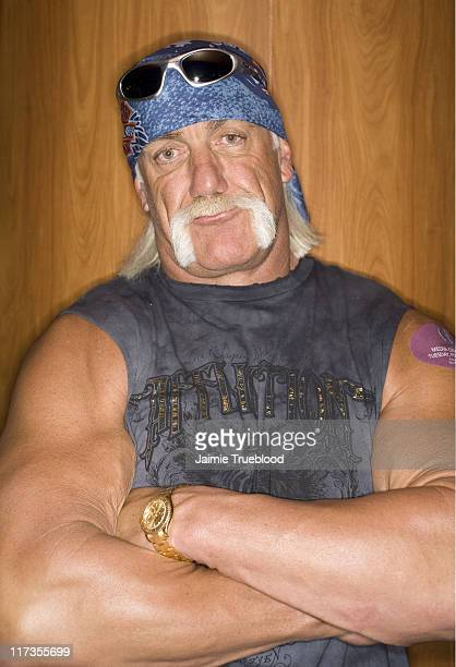 Hulk Hogan during The 48th Annual GRAMMY Awards Westwood One Radio Room Day 2 at Staples Center in Los Angeles California United States