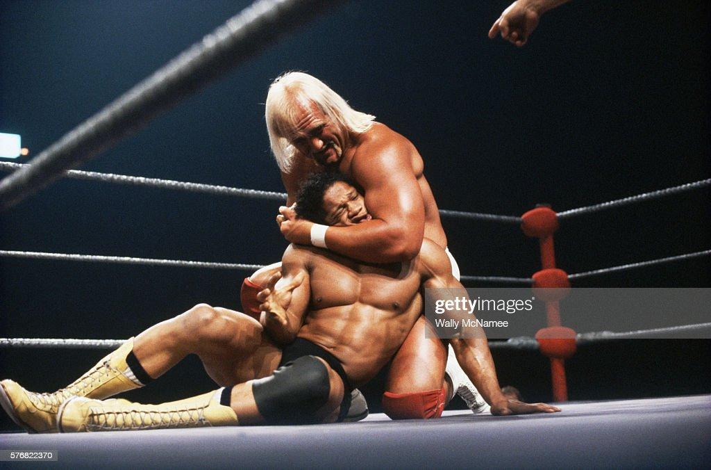 Hulk Hogan Holding Tony Atlas in a Headlock