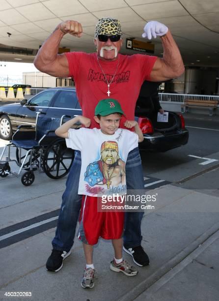 Hulk Hogan is seen at Logan International Airport in Boston MA on June 01 2013 in Boston Massachusetts