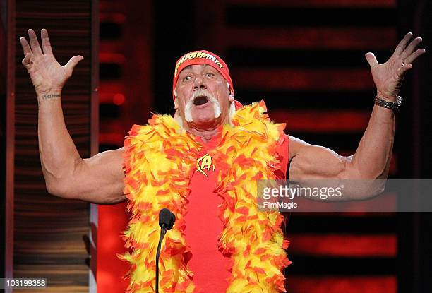 Hulk Hogan performs onstage at Comedy Central's Roast of David Hasselhoff held at Sony Pictures Studios on August 1 2010 in Culver City California