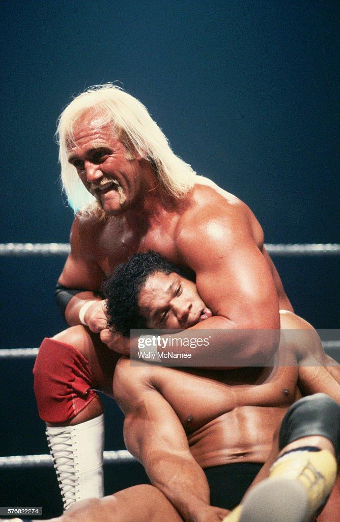 Hulk Hogan Putting Tony Atlas in a Headlock