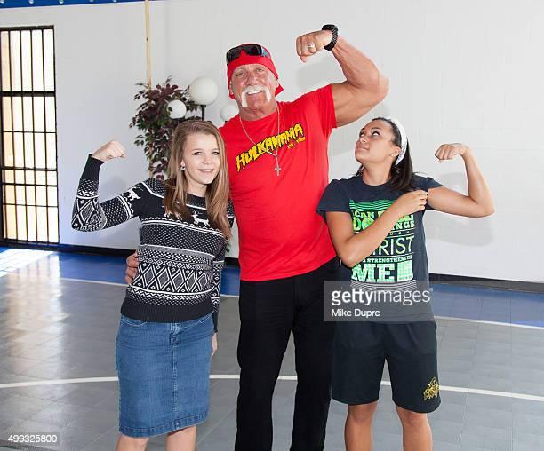 Hulk Hogan visits Hope Children's Home on November 30 2015 in Tampa Florida