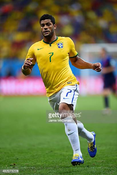 Hulk of Brazil in action during the 2014 FIFA World Cup Brazil Third Place Playoff match between Brazil and the Netherlands at Estadio Nacional on...