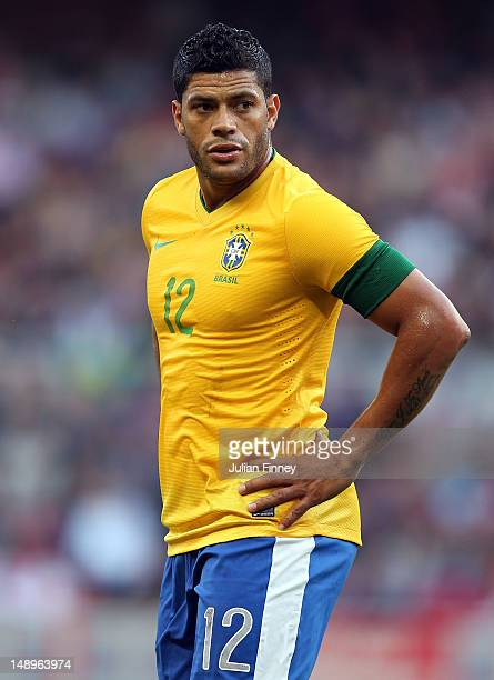 Hulk of Brazil looks on during the international friendly match between Team GB and Brazil at Riverside Stadium on July 20 2012 in Middlesbrough...