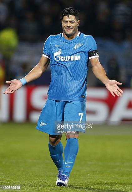 Hulk of FC Zenit reacts during the UEFA Champions league match between Olympique Lyonnais and FC Zenit St Petersburg at Stade de Gerland on November...
