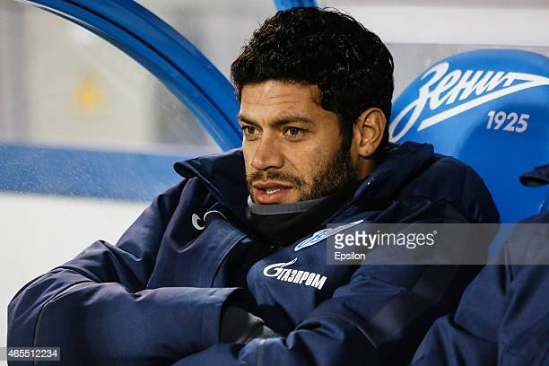 Hulk of FC Zenit St Petersburg looks on during the Russian Football League match between FC Zenit St Petersburg and FC Ural Sverdlovsk Oblast at the...