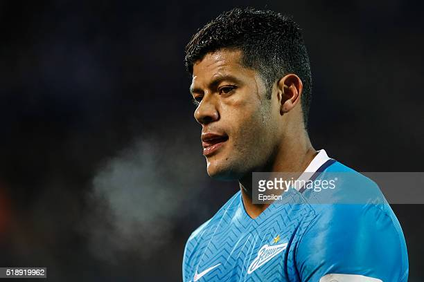 Hulk of FC Zenit St Petersburg looks on during the Russian Football League match between FC Zenit St Petersburg and PFC CSKA Moscow at Petrovsky...