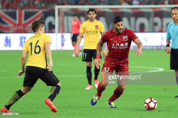 Hulk of Shanghai SIPG follows the ball during the 18th round match of 2017 Chinese Football Association Super League between Shanghai SIPG and...
