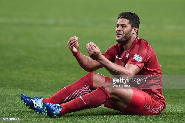 Hulk of Shanghai SIPG reacts during the AFC Champions League 2017 Group F match between Shanghai SIPG and Western Sydney Wanderers at Shanghai...