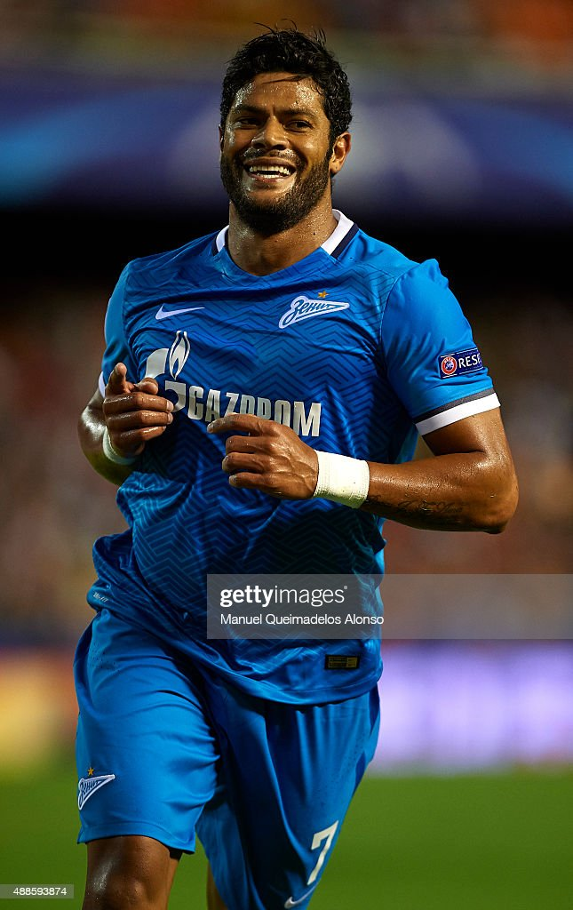 <a gi-track='captionPersonalityLinkClicked' href=/galleries/search?phrase=Hulk+-+Soccer+Player&family=editorial&specificpeople=7359350 ng-click='$event.stopPropagation()'>Hulk</a> of Zenit celebrates scoring his team's first goal during the UEFA Champions League Group H match between Valencia CF and FC Zenit at the Estadi de Mestalla on September 16, 2015 in Valencia, Spain.
