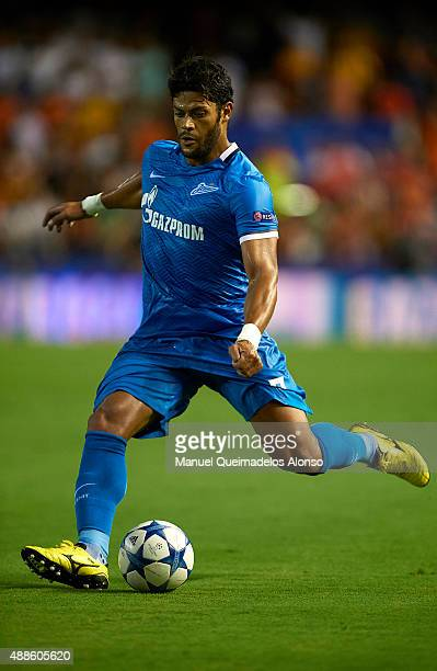 Hulk of Zenit in action during the UEFA Champions League Group H match between Valencia CF and FC Zenit at the Estadi de Mestalla on September 16...