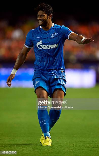 Hulk of Zenit reacts during the UEFA Champions League Group H match between Valencia CF and FC Zenit at the Estadi de Mestalla on September 16 2015...