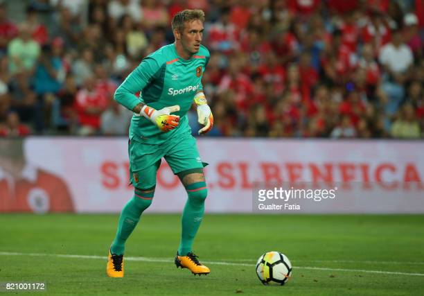 Hull City goalkeeper Allan McGregor in action during the Algarve Cup match between SL Benfica and Hull City at Estadio Algarve on July 22 2017 in...