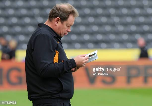 Hull City Head Coach Leonid Slutsky before the Sky Bet Championship match between Hull City and Sunderland at KCOM Stadium on September 16 2017 in...