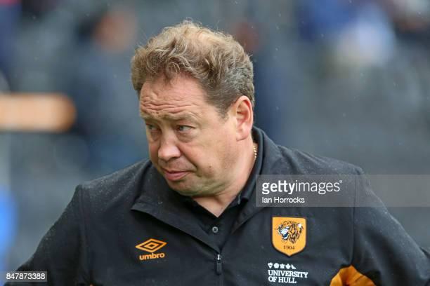 Hull City Head Coach Leonid Slutsky during the Sky Bet Championship match between Hull City and Sunderland at KCOM Stadium on September 16 2017 in...