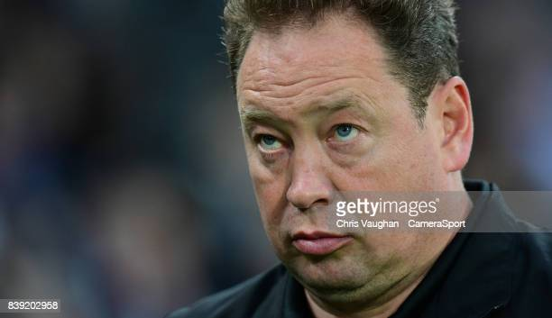Hull City manager Leonid Slutsky during the Sky Bet Championship match between Hull City and Bolton Wanderers at KCOM Stadium on August 25 2017 in...
