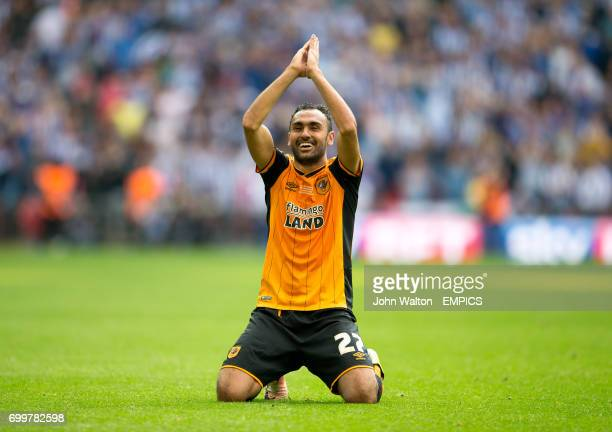 Hull City's Ahmed Elmohamady celebrates after the final whistle