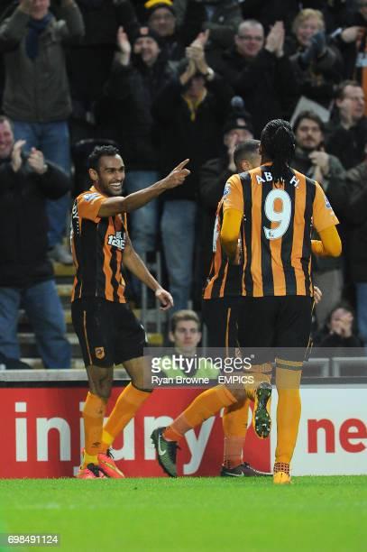 Hull City's Ahmed Elmohamady celebrates his goal