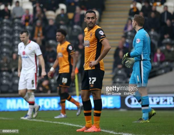Hull City's Ahmed Elmohamady looks dejected