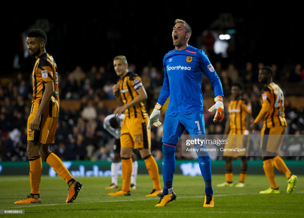 Hull City's Allan McGregor in action during the Sky Bet Championship match between Fulham and Hull City at Craven Cottage on September 13, 2017 in London, England.