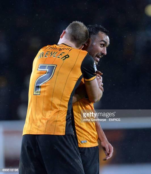 Hull City's David Meyler and Ahmed Elmohamady