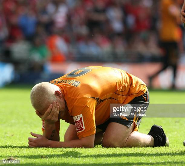 Hull City's Dean Windass cant contain his emotions after winning the play offs