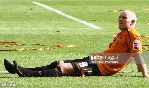 Hull City's Dean Windass relaxes after the game