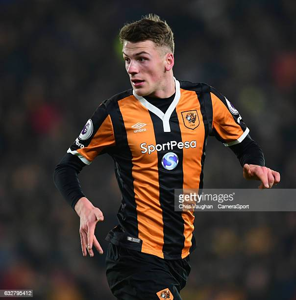 Hull City's Josh Tymon during the EFL Cup SemiFinal Second Leg match between Hull City v Manchester United at KCOM Stadium on January 26 2017 in Hull...