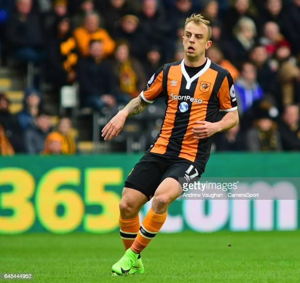 Hull City's Kamil Grosicki during the Premier League match between Hull City and Burnley at KCOM Stadium on February 25 2017 in Hull England