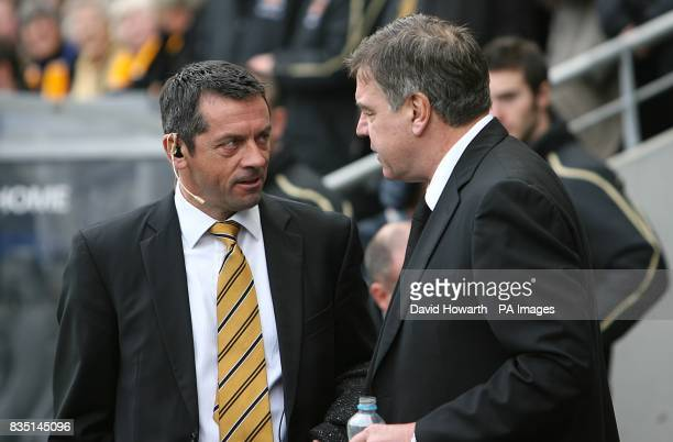 Hull City's manager Phil Brown and Blackburn Rovers manager Sam Allardyce prior to kick off